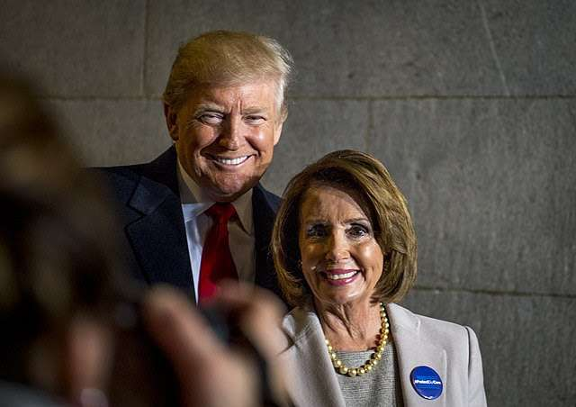 Trump and Pelosi pictured together